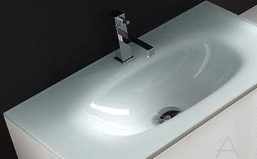 Baden haus mobile da bagno sospeso 138 cm sting grigio - Lavandini in vetro per bagno ...