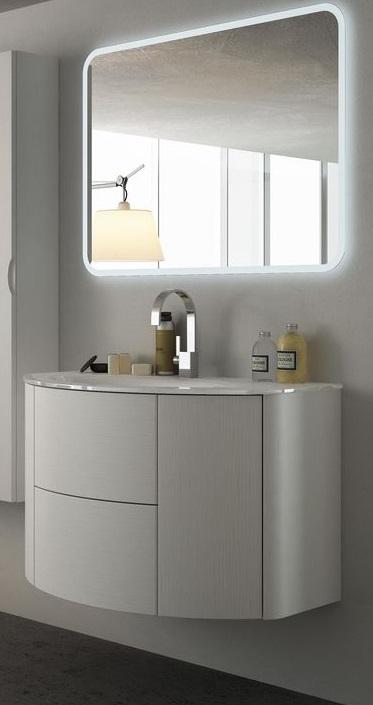 Baden haus mobile da bagno sospeso 90 cm eden frassino for Mobilia mobili bagno
