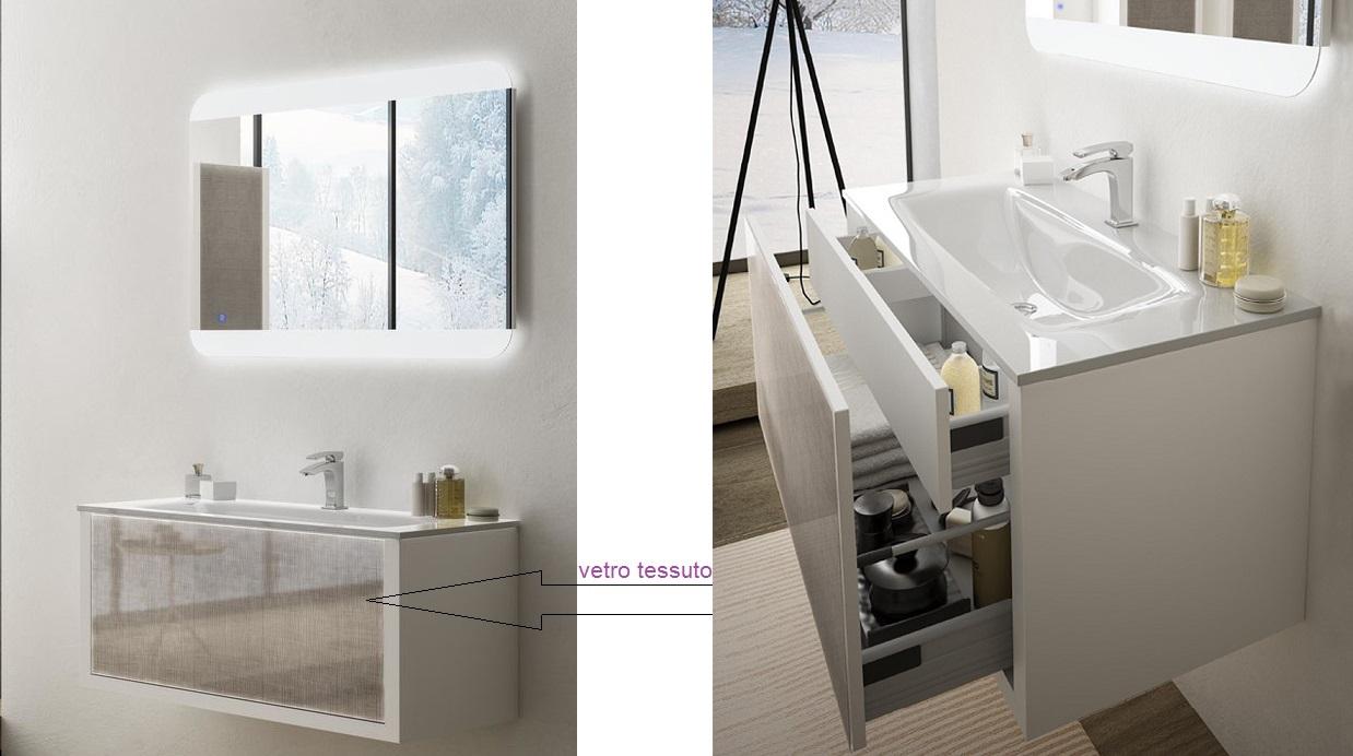 Baden Haus - Mobile da Bagno Sospeso 100 cm Roxanne Bianco
