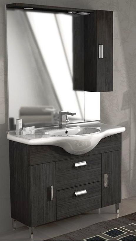 Baden haus mobile da bagno 105 cm rovereto grigio scuro for Mobilia mobili bagno