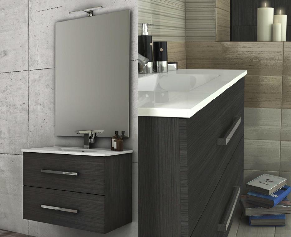 Baden haus mobile da bagno 100 cm grigio scuro sospeso - Idee mobili bagno ...