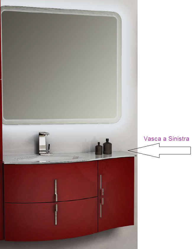 Mobili bagno rosso finest mobili bagno rosso with mobili for Mobili bagno remix