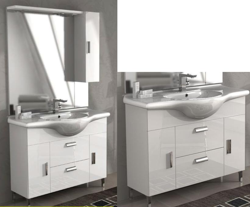 Bade haus mobile da bagno 105 cm rovereto bianco lucido