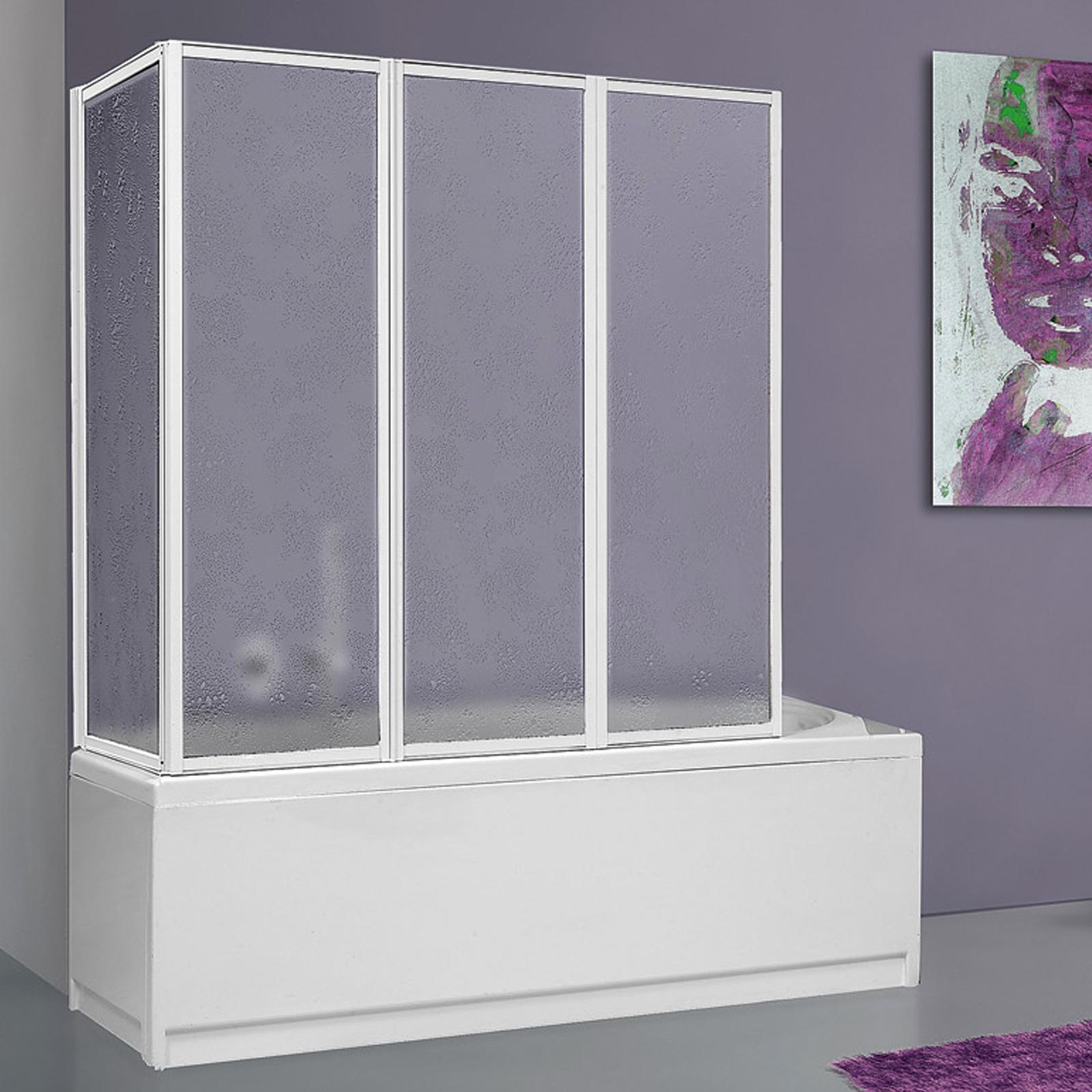 Box sopravasca 70x140 cm acrilico 2.2 mm con profili alluminio bianco