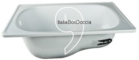 Vasca Da Bagno Con Sedile.Vasca Con Sedile 105x65 Cm Da Incasso In Acciaio Smaltato Bianco Vendita Online Italiaboxdoccia